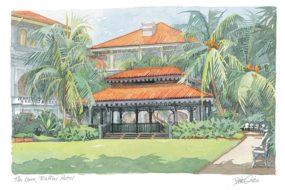 Raffles Hotel, the lawn