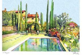 Villa Tropoli, pool view, Tuscany